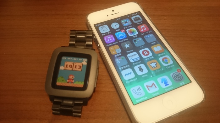 iPhoneとpebble time