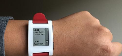 Pebble Classicにタイムラインが。公式イメージ1